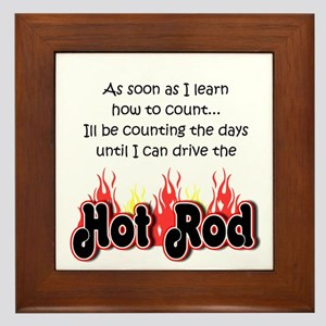 Hot Rod Baby Count Framed Tile