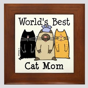 World's Greatest Cat Mom Framed Tile
