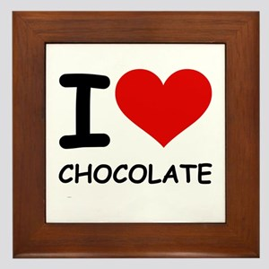 I LOVE CHOCOLATE Framed Tile