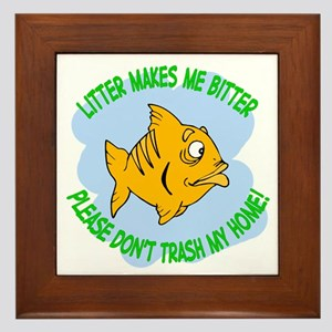 Bitter Litter Fish Framed Tile