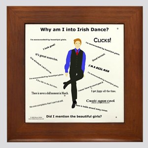 Why Irish Dance - Framed Tile