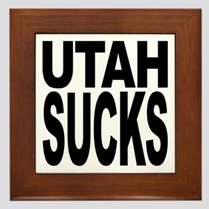 Utah Sucks Framed Tile