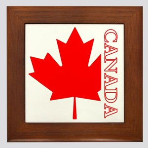 Candian Maple Leaf Framed Tile