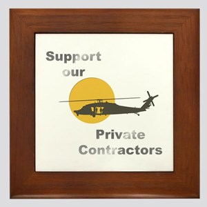Support our Private Contractors Framed Tile