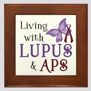 Living with Lupus APS Framed Tile