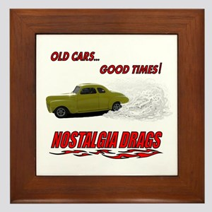 OLD CARS...GOOD TIMES! T-Shir Framed Tile