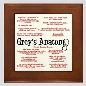 Grey's Anatomy Quotes Framed Tile