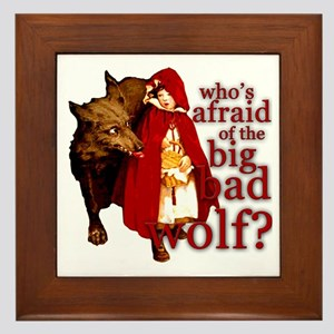 Who's Afraid of the Big Bad Wolf Framed Tile