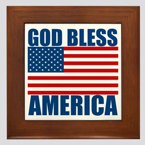God Bless America Framed Tile