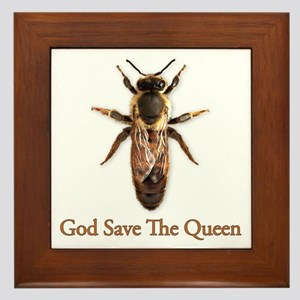 God Save the Queen (bee) Framed Tile
