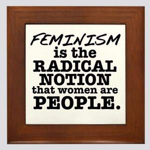 Feminism Radical Notion Framed Tile