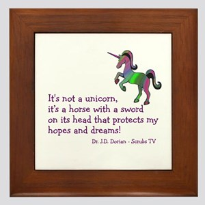 Scrubs Unicorn Quotes Framed Tile