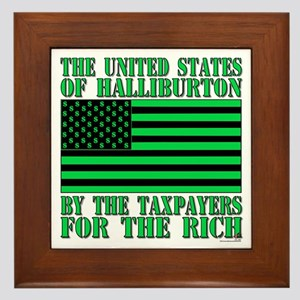 If it's war its Halliburton. Framed Tile