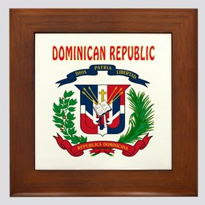 Dominican Republic Coat of arms Framed Tile