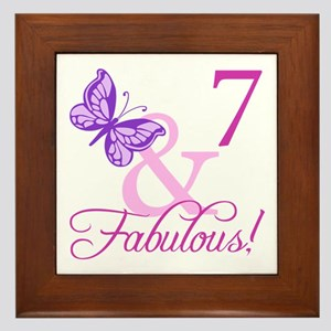 Fabulous 7th Birthday For Girls Framed Tile