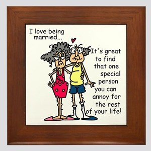 Marriage Humor Framed Tile