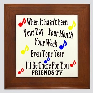 Theme Song Lyrics Framed Tile