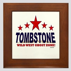 Tombstone Wild West Ghost Zone Framed Tile