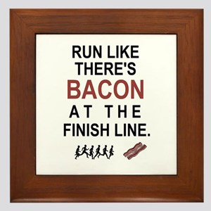 Will Run for Bacon Framed Tile