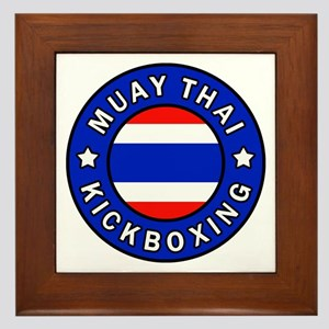 Muay Thai Framed Tile