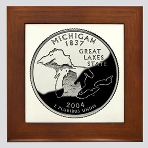 Michigan Quarter Framed Tile