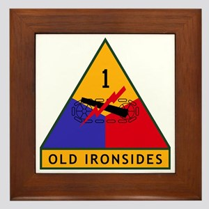 1st_US_Armored_Division_SSI Framed Tile