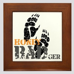 honey-badger-2 Framed Tile