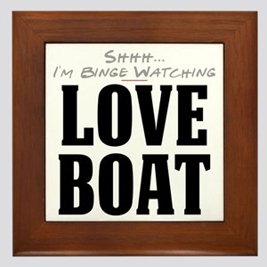 Shhh... I'm Binge Watching Love Boat Framed Tile