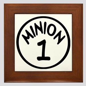 Minion 1 One Children Framed Tile