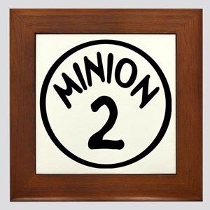 Minion 2 Two Children Framed Tile