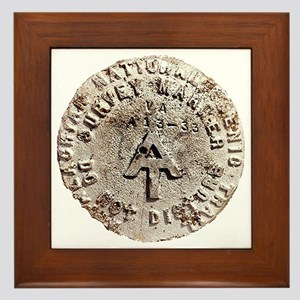 Appalachian Trail Survey Marker Framed Tile
