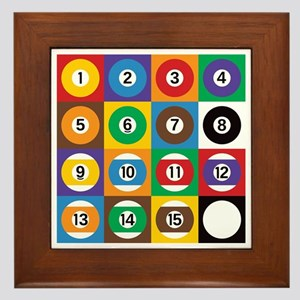 Pop Art Pool Balls Framed Tile