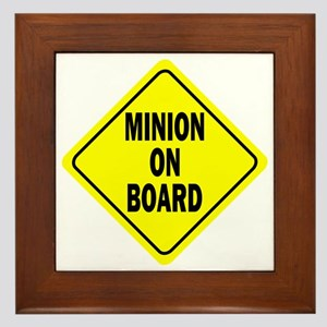 Minion on Board Car Sign Framed Tile