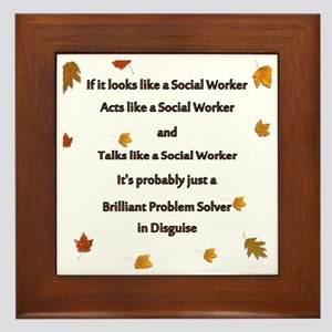 brilliant problem solver 2 Framed Tile