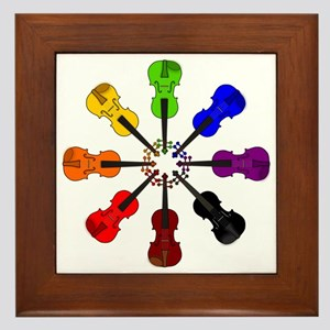 circle_of_violins Framed Tile