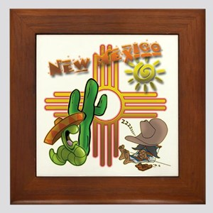 New Mexico Tequila Worm Siesta Framed Tile