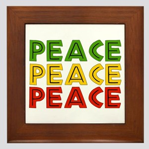 Peace Words Framed Tile
