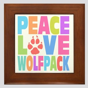 Peace Wolf Pack Framed Tile