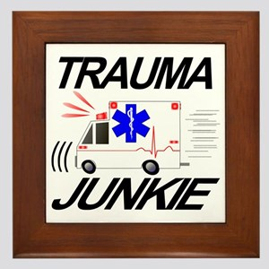 TRAUMA JUNKIE Framed Tile