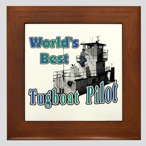 World's Best Tugboat Pilot t Framed Tile