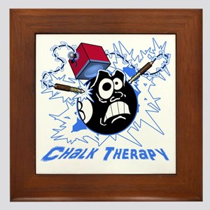 Chalk Therapy (dark shirt) Framed Tile