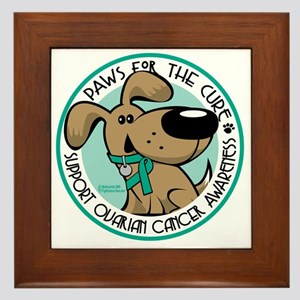 Paws-for-the-Cure-Ovarian Framed Tile