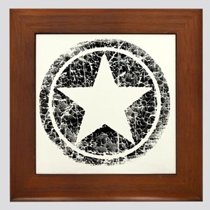 distressed star Framed Tile