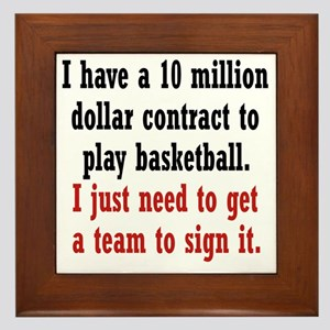 basketball-contract2 Framed Tile
