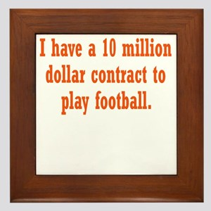 football-contract3 Framed Tile