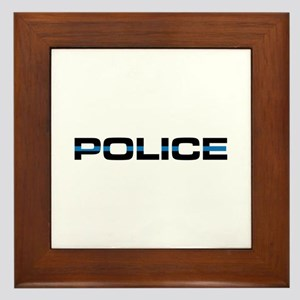 Police Framed Tile
