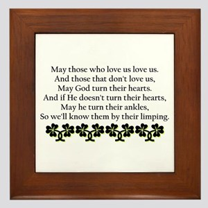 Irish Blessing? Framed Tile