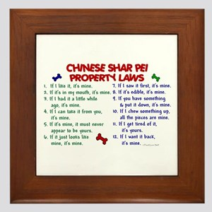 Chinese Shar Pei Property Laws 2 Framed Tile
