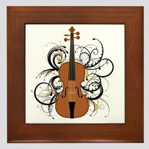 Violin Swirls Framed Tile