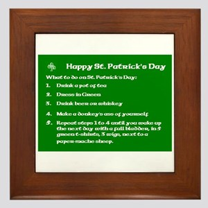 What to do on St. Patricks Day Framed Tile